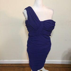 Tadashi Shoji Purple One strap Form  Dress Size 2P